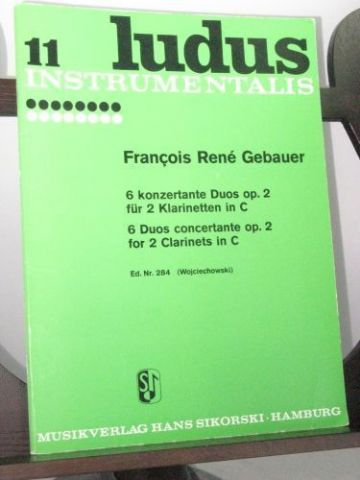 Gebauer F R - 6 Duos Concertante Op 2 for 2 Clarinets in C